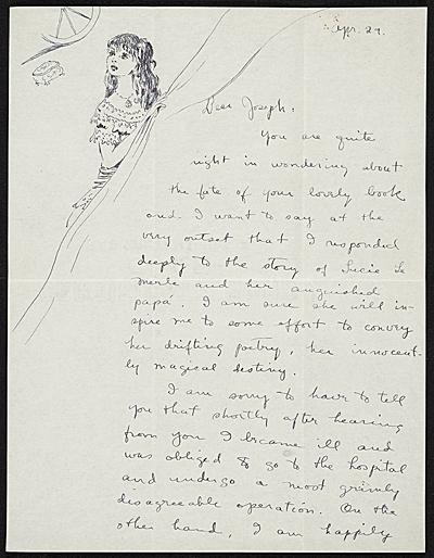 Dorthea Tanning to Joseph Cornell