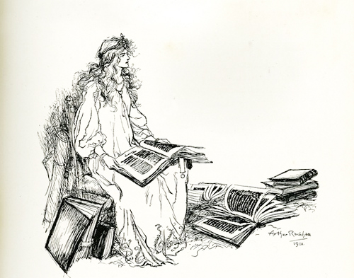 A pen & ink sketch by Arthur Rackham