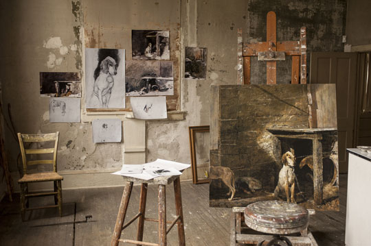 Andrew Wyeth's studio