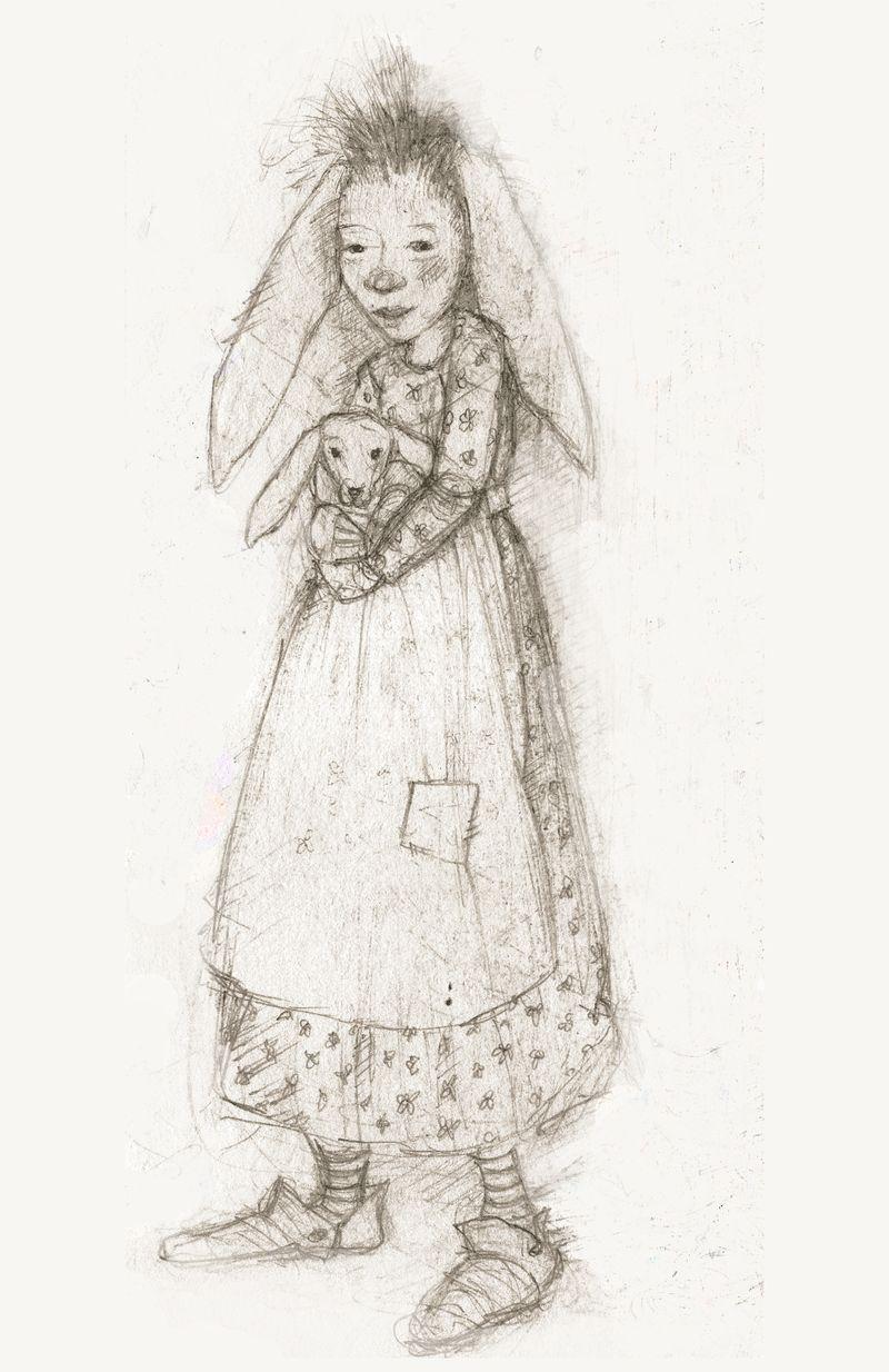 Bunny friends sketch copyright by Terri Windling