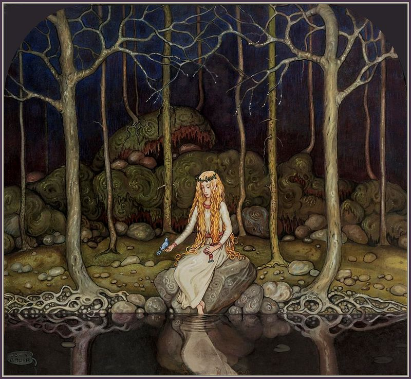 The Princess in the Forest by John Bauer