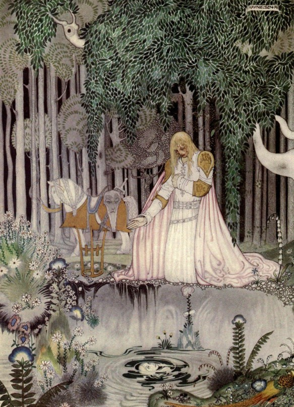 He Too Saw the Image in the Water by Kay Nielsen