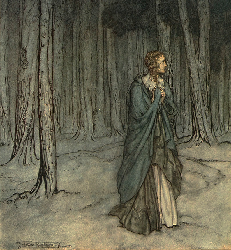 The Lamb and the Serpent by Arthur Rackham