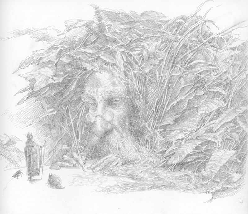 Drawing copyright by Alan lee