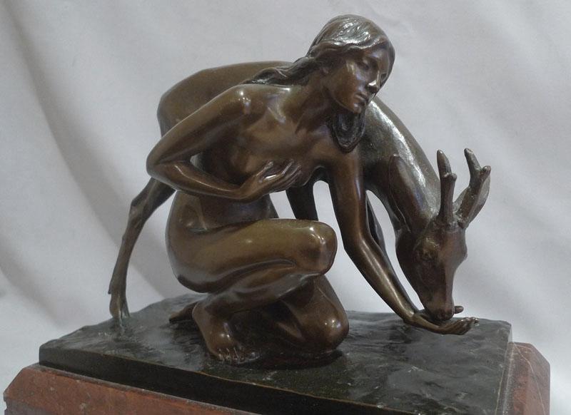 Deer Maiden by Erich Schmidt-Kestner