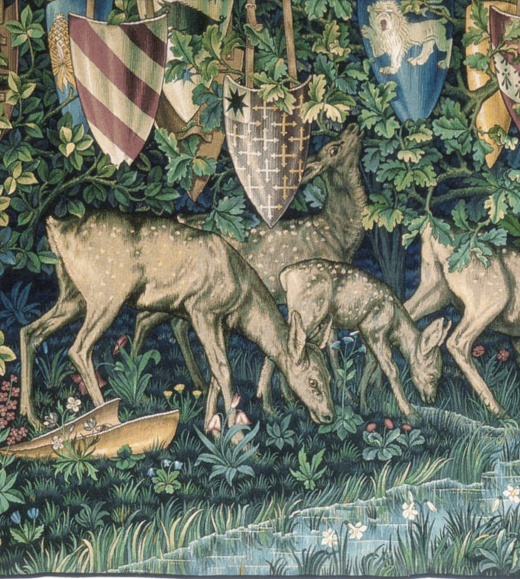 Detail from the Holy Grail tapestry
