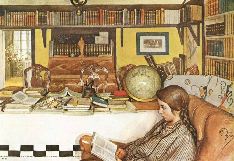 The Reading Room by Carl Larsson