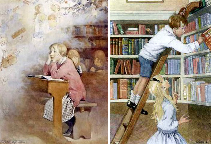 Daydreaming and The Library by Honor C. Appleton
