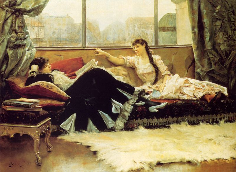 Reading Aloud by Julius LeBlanc Stewart