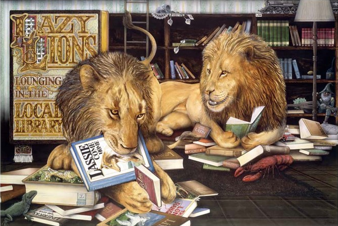 Library Lions by Graeme Base