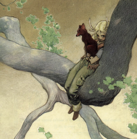 Red Dog and Jackalope by Charles Vess