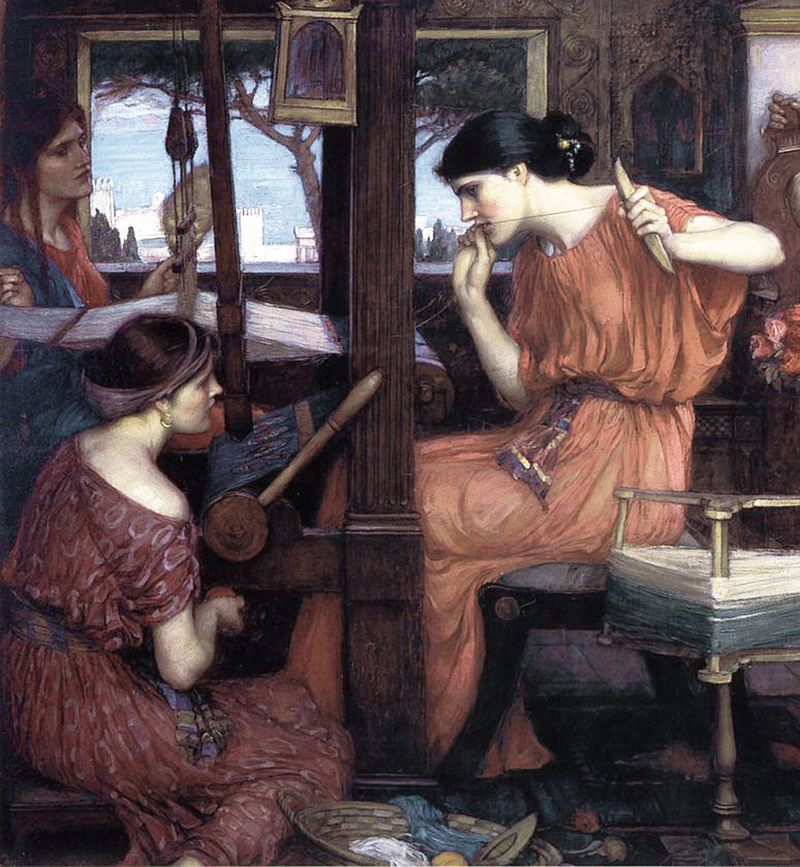 A detail from 'Penelope and the Suitors' by John William Waterhouse