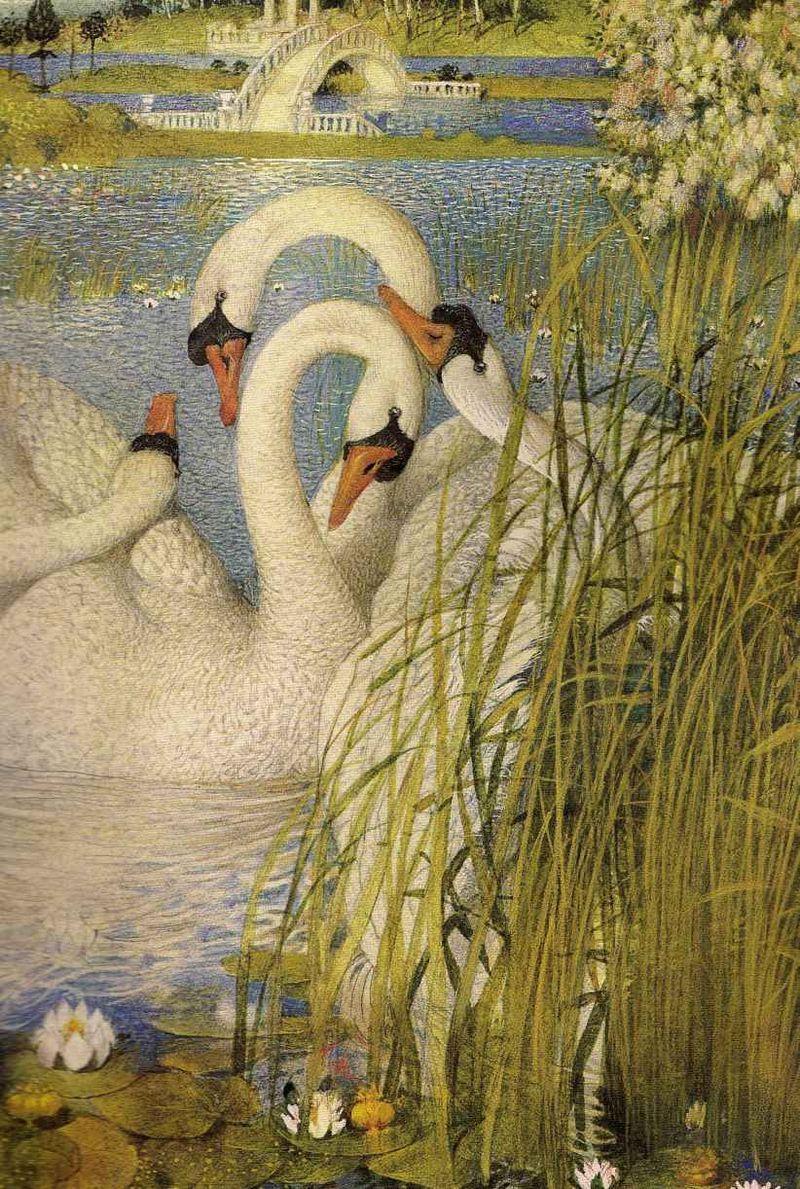 Swans by Gennady Spirin