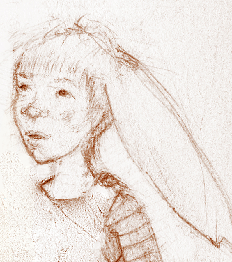 Bunny girl sketch copyright Terri Windling
