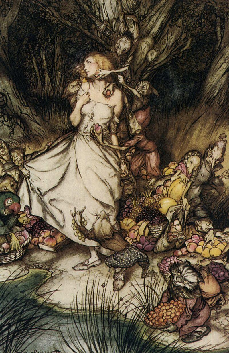 Goblin Market by Arthur Rackham