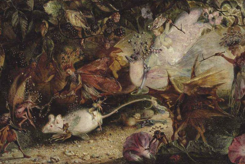 Chase of the White Mouse by John Anster Fitzgerald