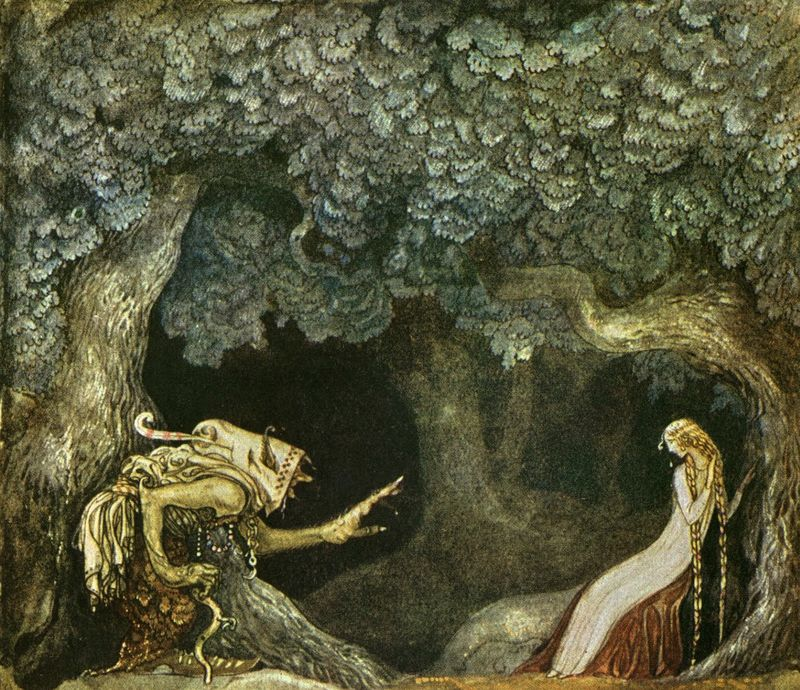 The Queen's Pearl Necklace by John Bauer