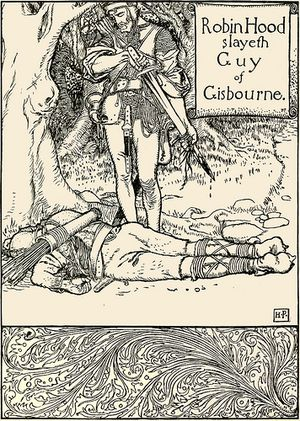 Robin Hood Illustration  by Howard Pyle