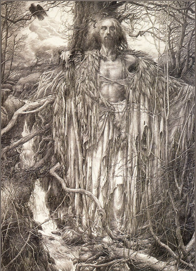 Merlin in the Forest by Alan Lee