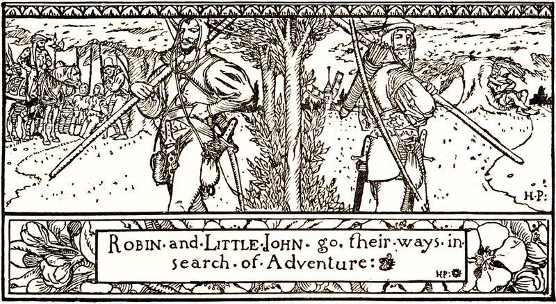 Robin Hood illustration by Howard Pyle