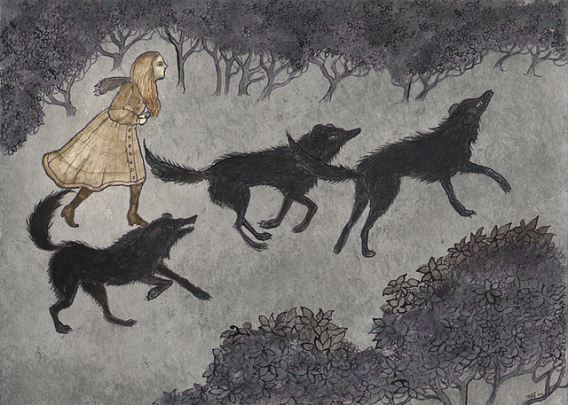 Three Black Dogs by Kelly Louse Judd