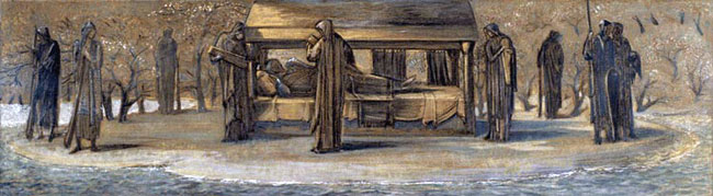 Arthur at Avalon by Sir Edward Burne-Jones