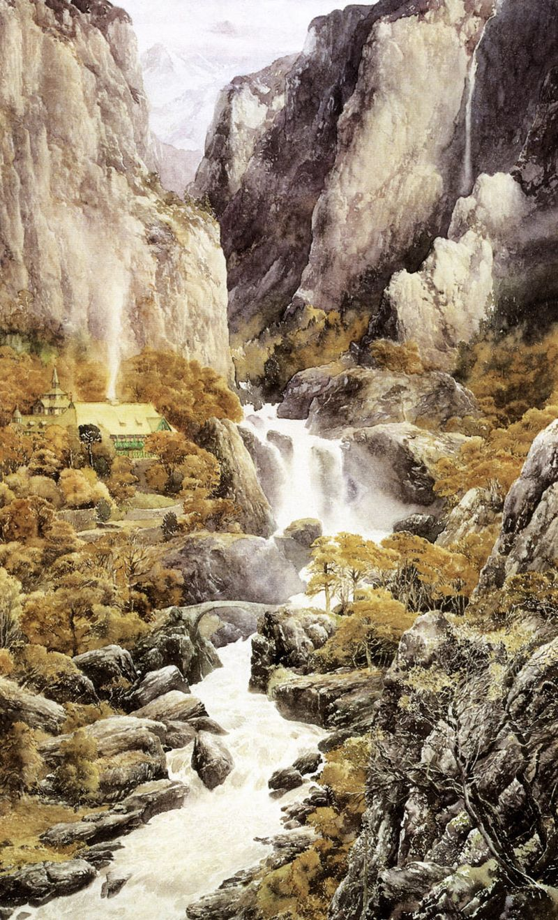 Rivendell (from The Lord of the Rings) by Alan Lee