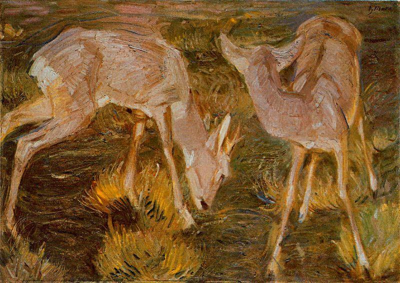 Young Deer by Franz Marc
