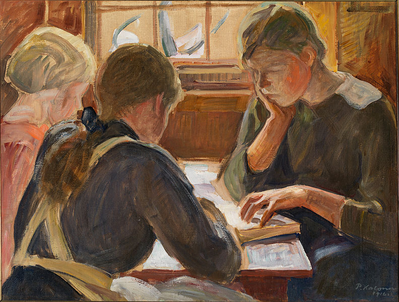 Children Reading by Pekka Halonen