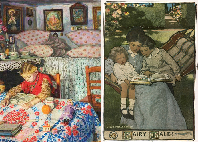 In the Parlour by   and Fairy Tales by Jessie Willcox Smith