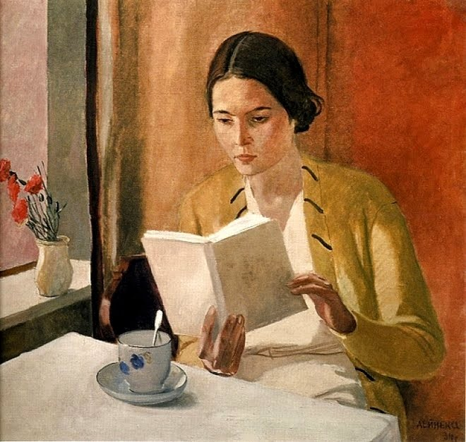 Woman Reading by Alexander Deinka