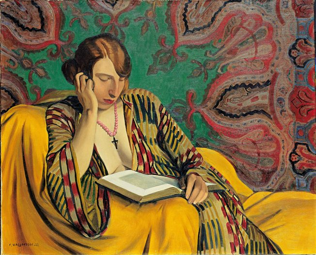 A Lady Reading by Felix Vallotton