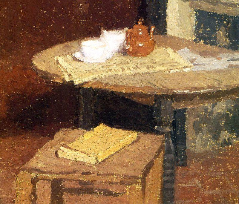 Brown Tea Pot with Yellow by Gwen John