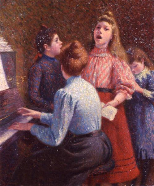 The Singing Lesson by Frederico Zandomeneghi