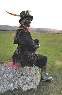 A Beltane Border Morris dancer
