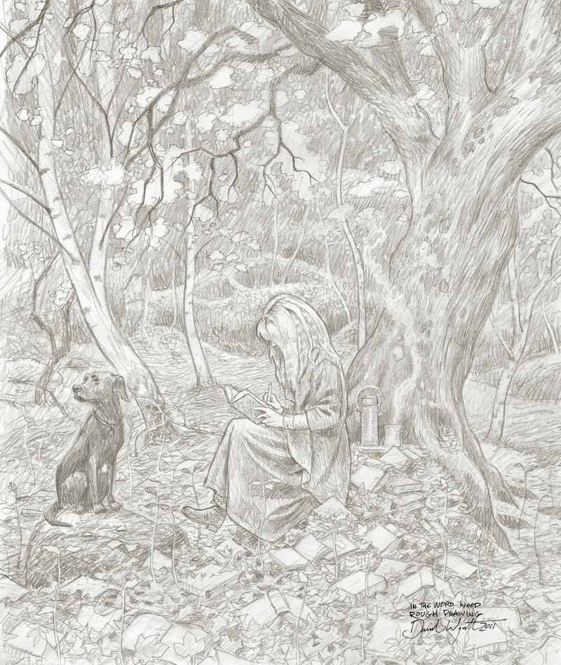 Rough sketch for In the Word Wood by David Wyatt