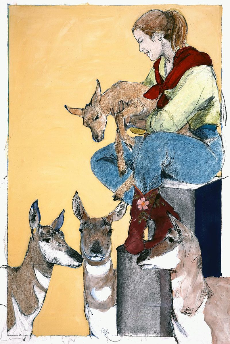Three Does and a Kid by Donna Howell-Sickles