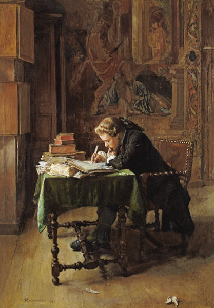 Young Man Writing by Jean-Louis-Ernest Meissonier