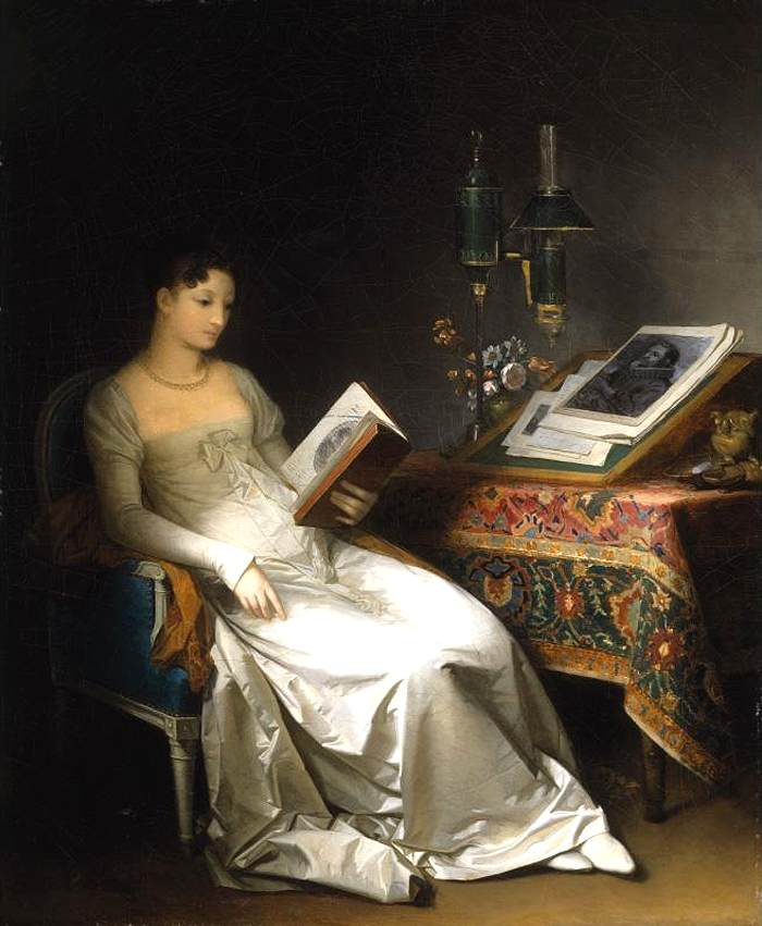Lady Reading in an Interior by Marguerite Gérard
