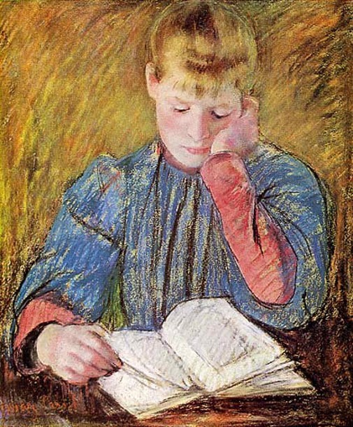Girl Studying by Susan MacDowell Eakins