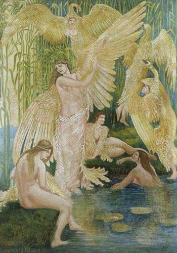The Swan Maidens by Walter Crane