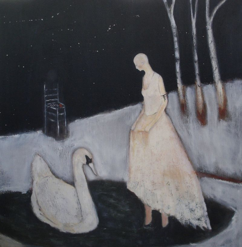 Swans by Jeanie Tomanek