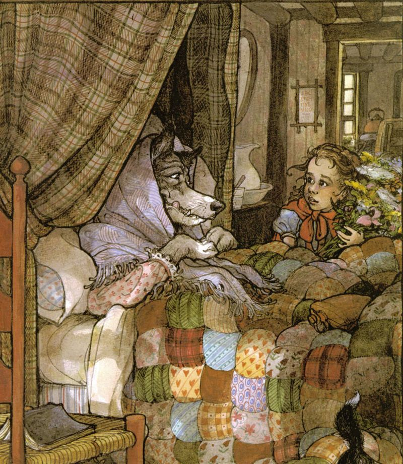 Little Red Riding Hood illustration by Trina Schart Hyman