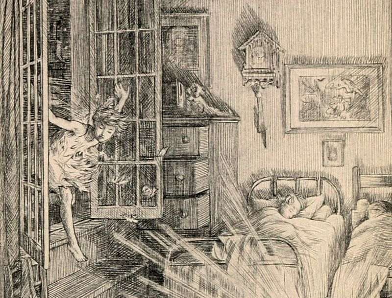 Peter Pan at the Window by F.D. Bedford (1864-1954)