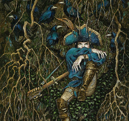 Detail from a painting by David Wyatt