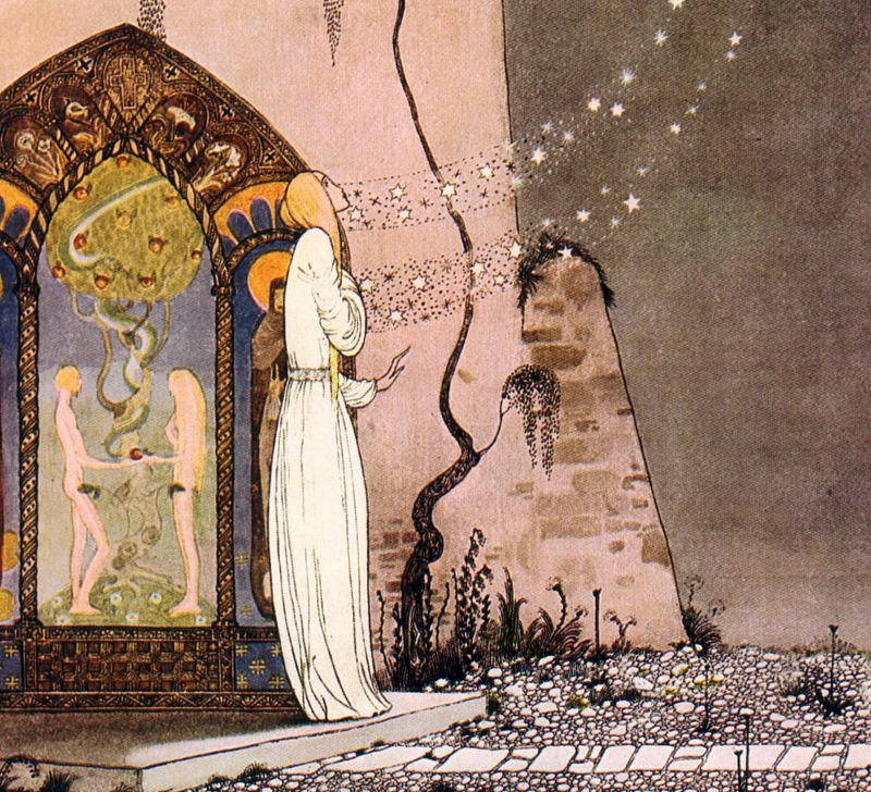 Detail from an illustration by Kay Nielsen