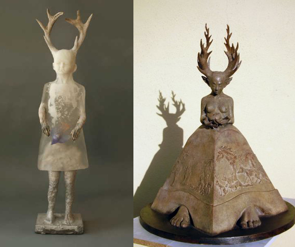 Nature Girl by Christina Bothwell and Queen of Beasts by Fidelma Massey