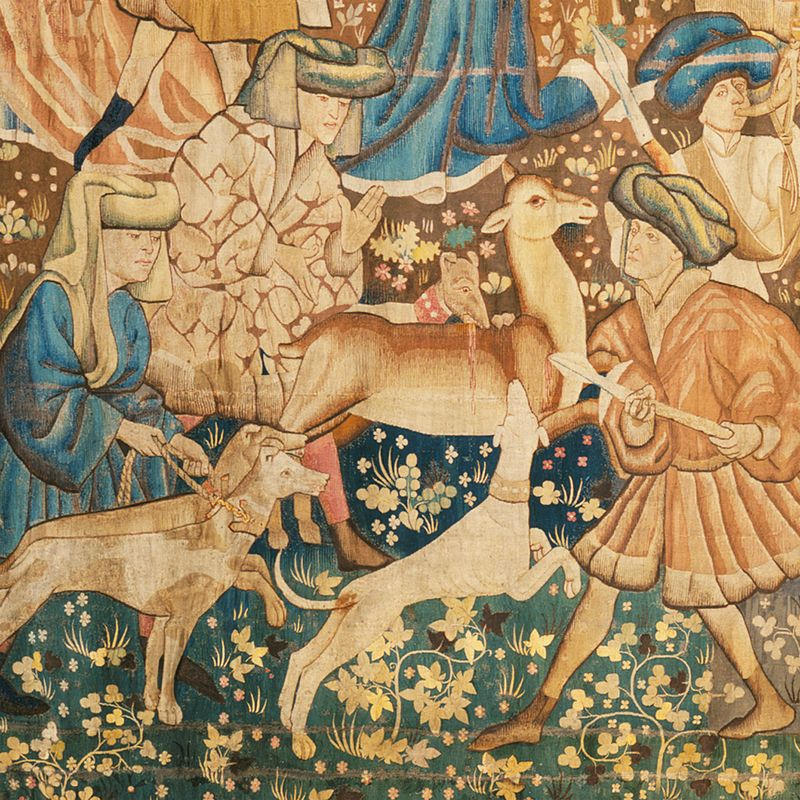 Detail from the Devonshire Hunting Tapestries