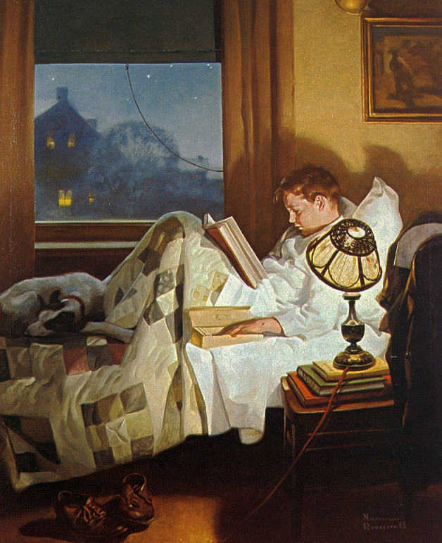 Crackers in Bed by Norman Rockwell