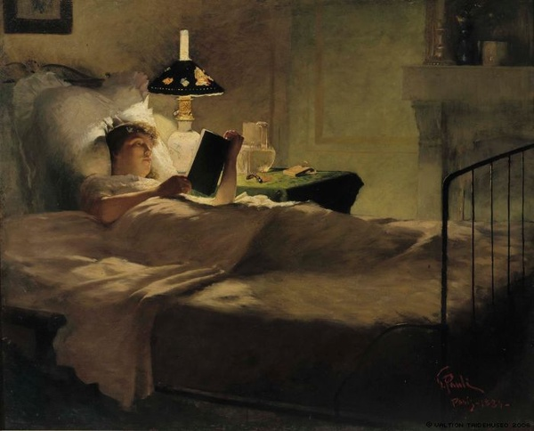 Evening Reading by George Pauli